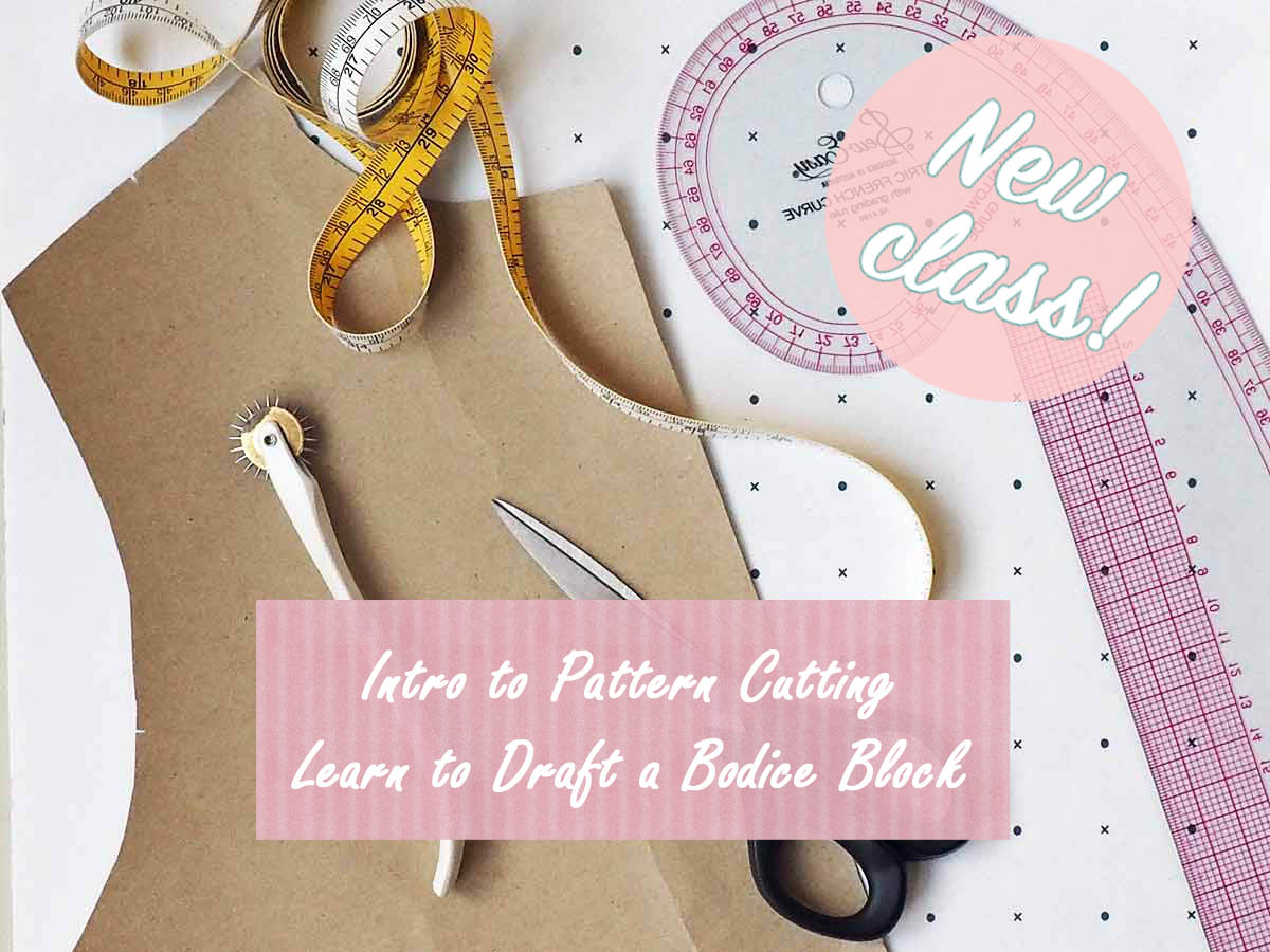 intro to pattern cutting. learn to draft a bodice block