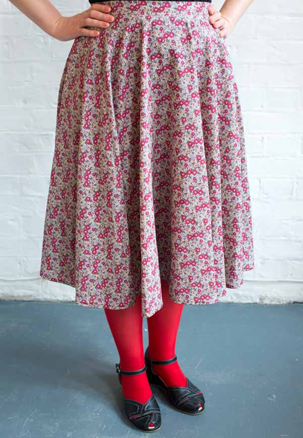 Circle skirt dressmaking intro
