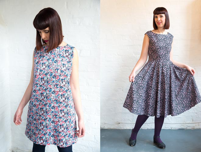 shift dress and fifties circle dress