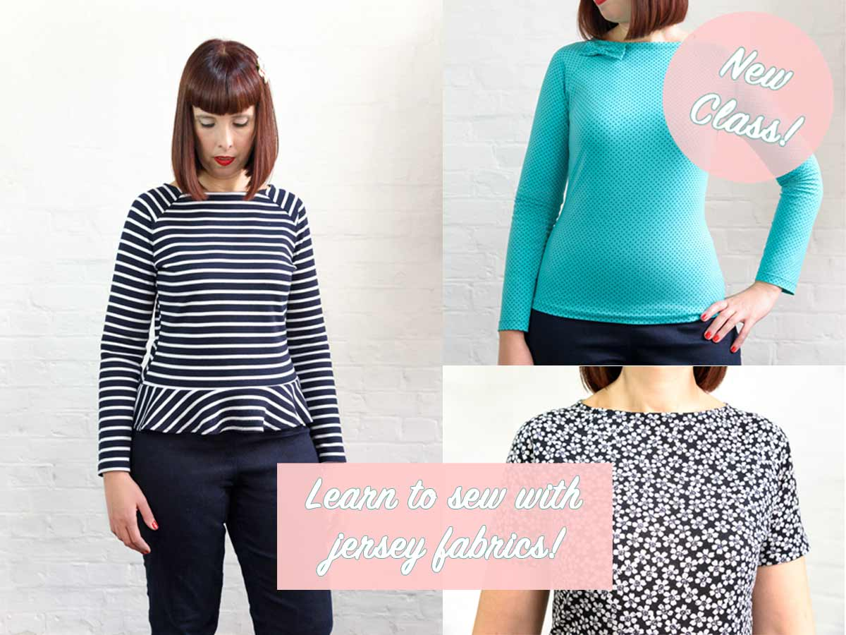 learn to sew with jersey fabrics