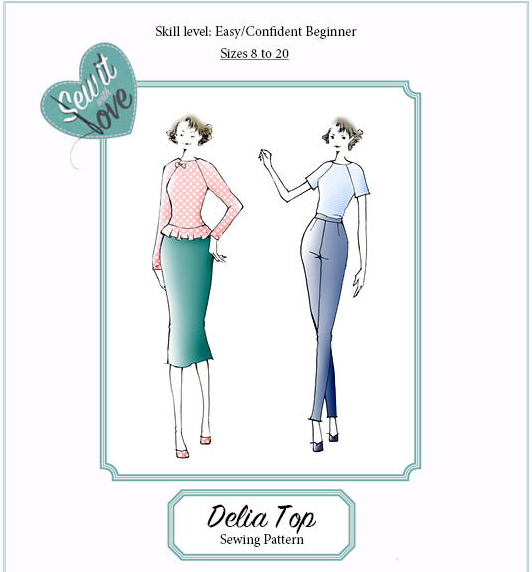 THE DELIA TOP - SEW IT WITH LOVE I Sewing classes, workshops ...